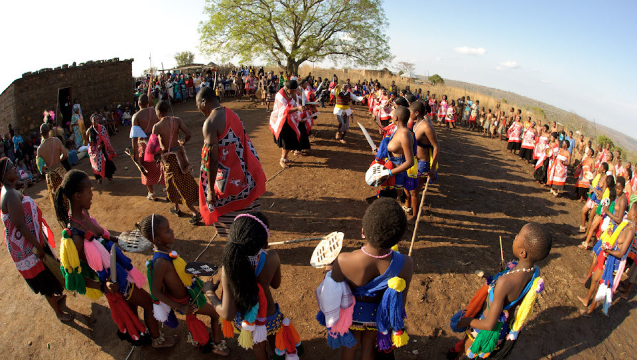 Traditionele Swazi bruiloft