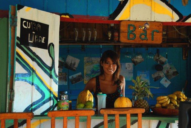 Barvrouw in Puerto Lopez