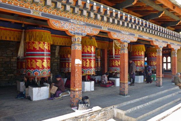 Gebedsmolens in Thimphu