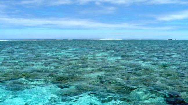 het reef voor de kust van Noumea
