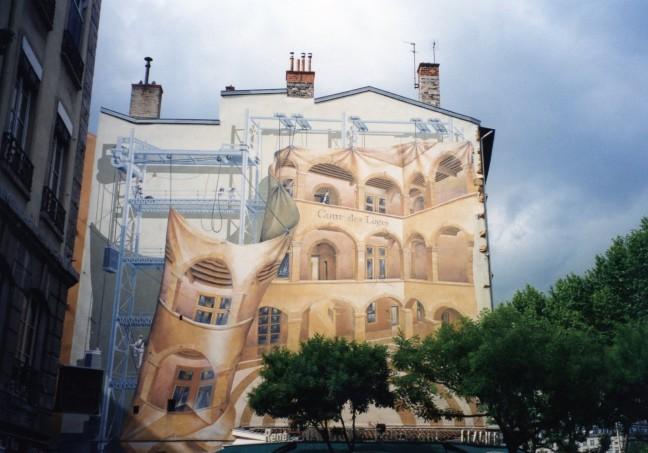 muurschildering in Lyon