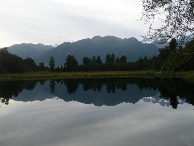 Glashelder water in Mirror Lake
