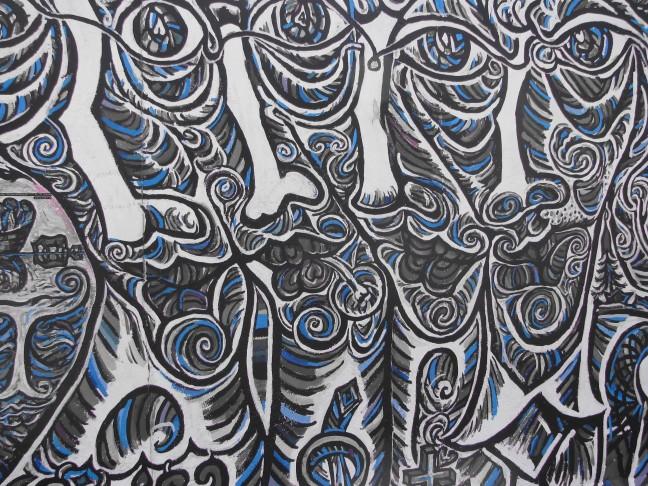 'Graffiti' op de Berlijnse muur