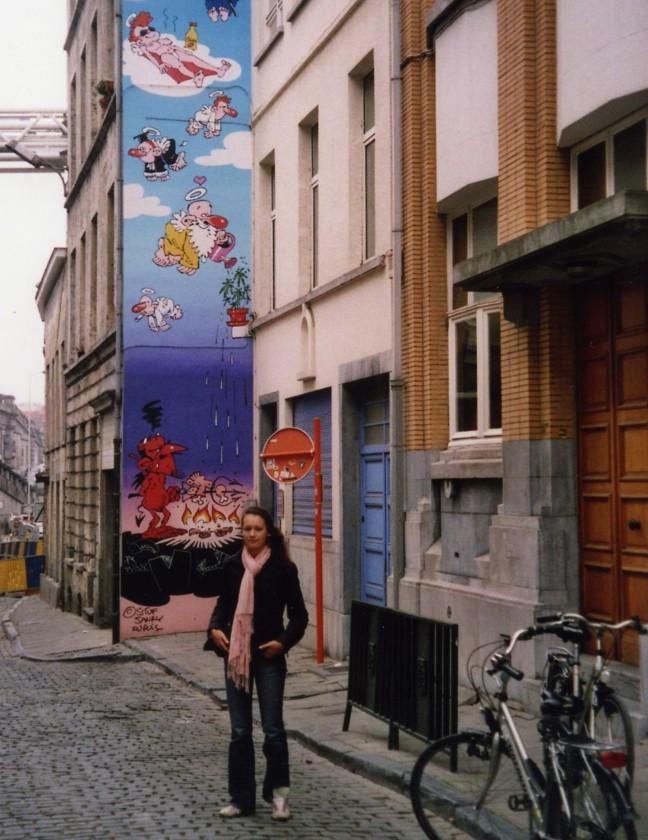 fietstocht langs muurschilderingen