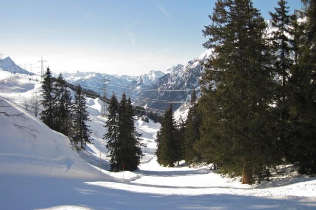 Eerste sneeuw in de Alpen