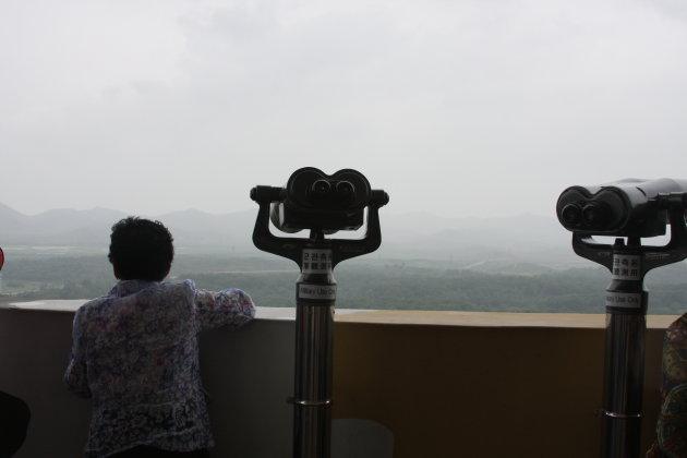 DMZ, noord Korea in de verte