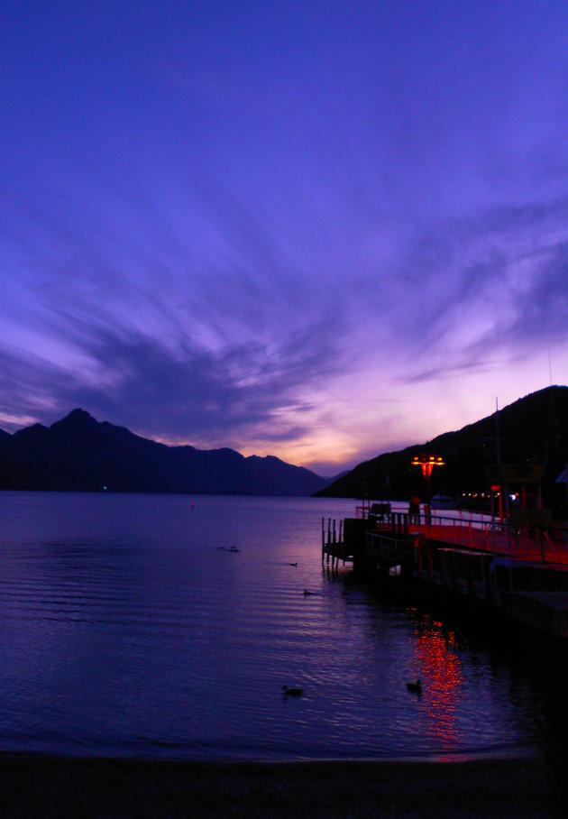 De mooie kleuren van een zonsondergang