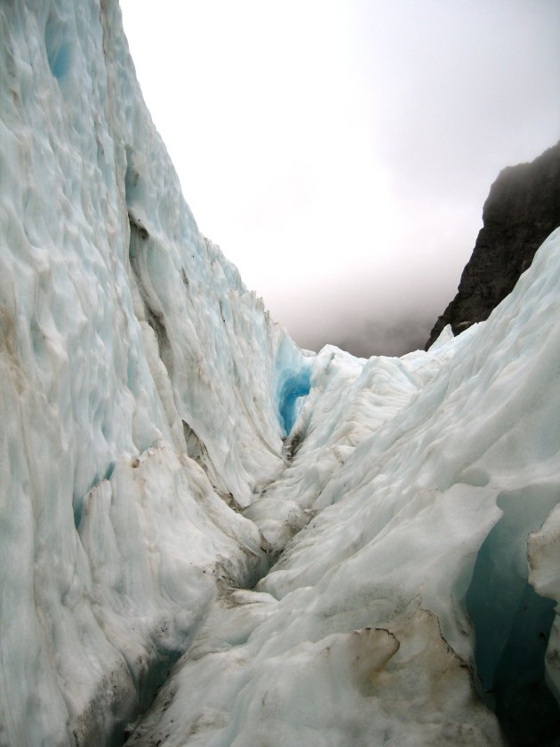 wandeling op de Franz Josef glacier