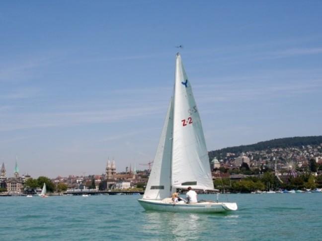 Zurich Zee met op de achtergrond de stad