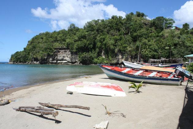 een van de strandjes van St-Lucia