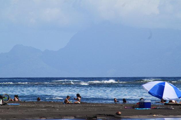 een dag aan het strand