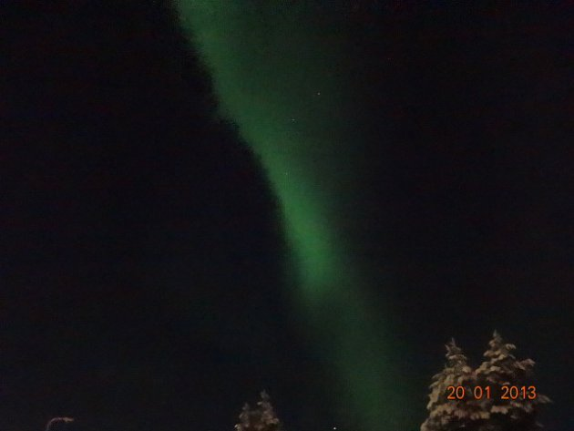 Het Noorderlicht in Fins Lapland Akaslompolo