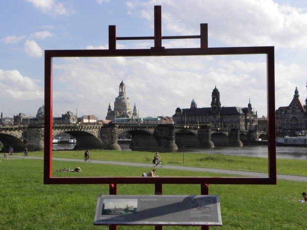 Blik op Dresden