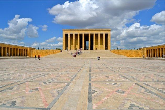 Het mausoleum in Ankara.