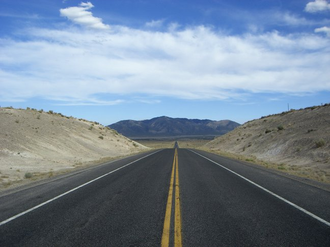 Lonely road in Arizona