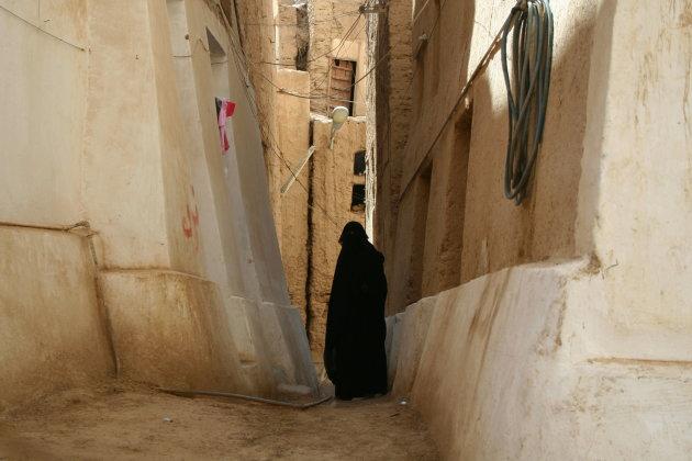 Nauwe straatjes van Shibam