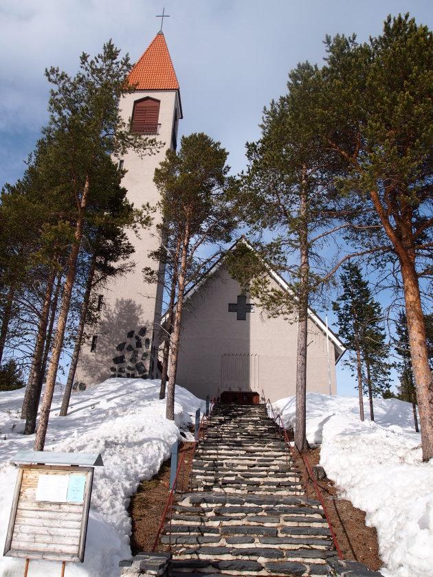 Kerk in het zonnetje