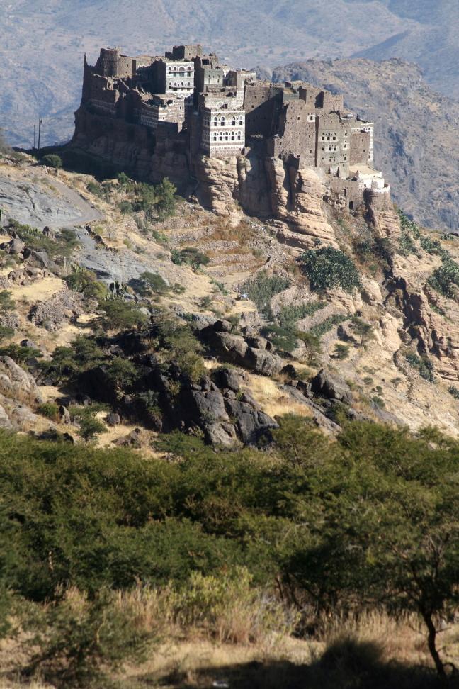 Dorpje in de bergen van Haraaz