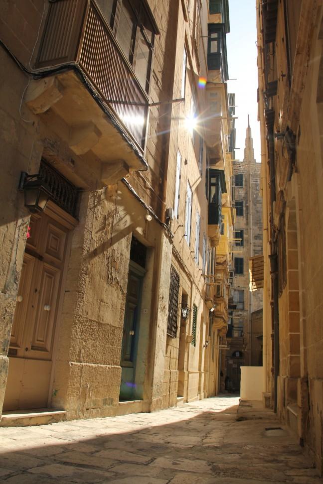 In de straten van Valletta