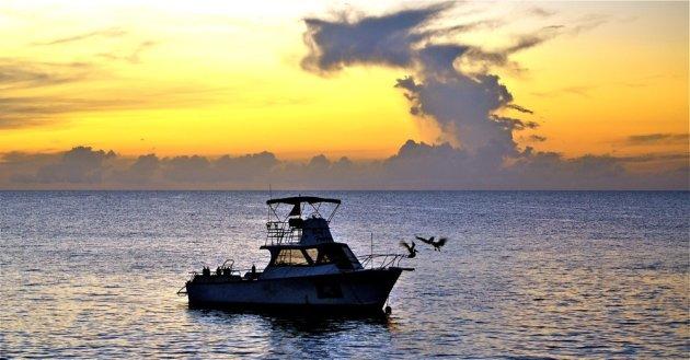 Zonsondergang op Bonaire.