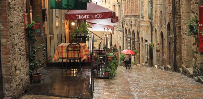 regen in Toscane