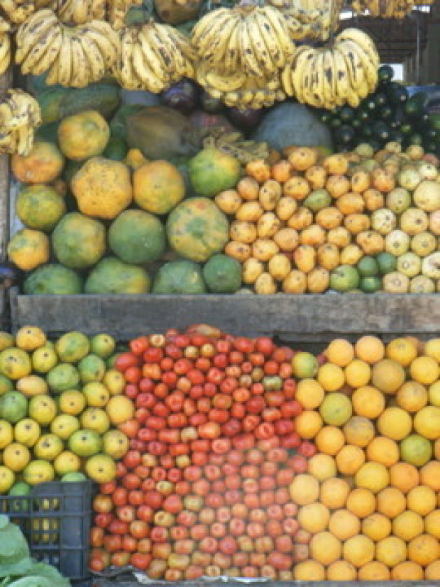 Heerlijk vers fruit van de markt