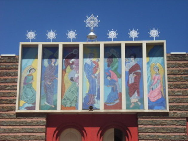 Detail van de orthodoxe kerk