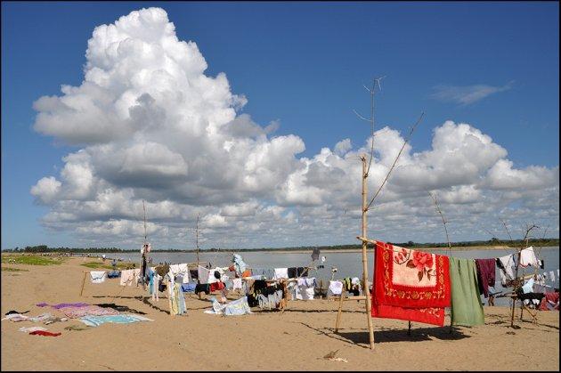 Was drogen op het strand