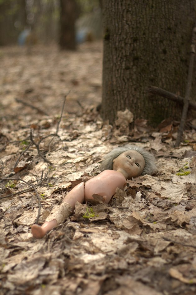 Vergeten pop tijdens de vlucht uit Tsjernobyl