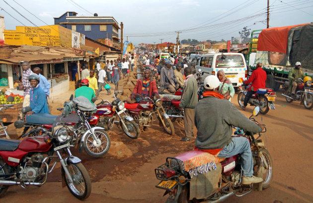 Een gewone ochtend in Kampala