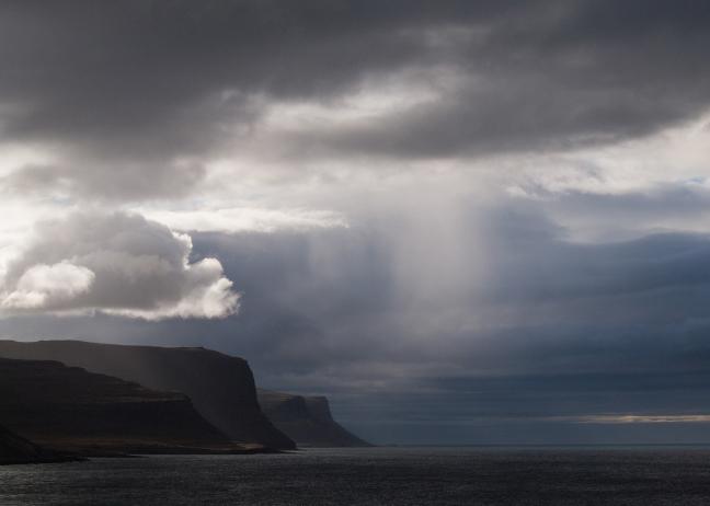 wolkenspektakel boven de westfjorden
