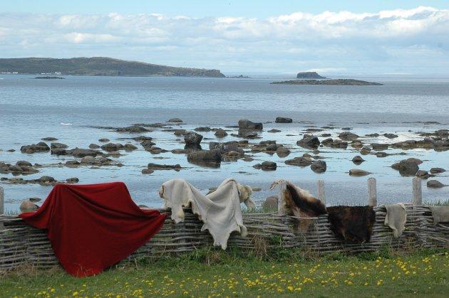 Resten van een Viking Nederzetting op Newfoundland