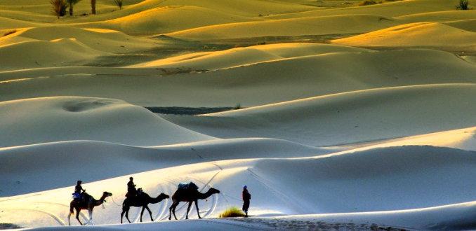 avond in de woestijn
