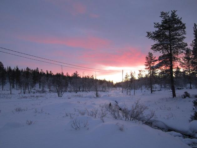 Twilight in Lapland