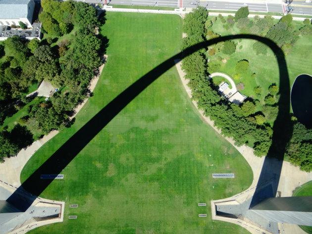 St. Louis Arch vanuit de top