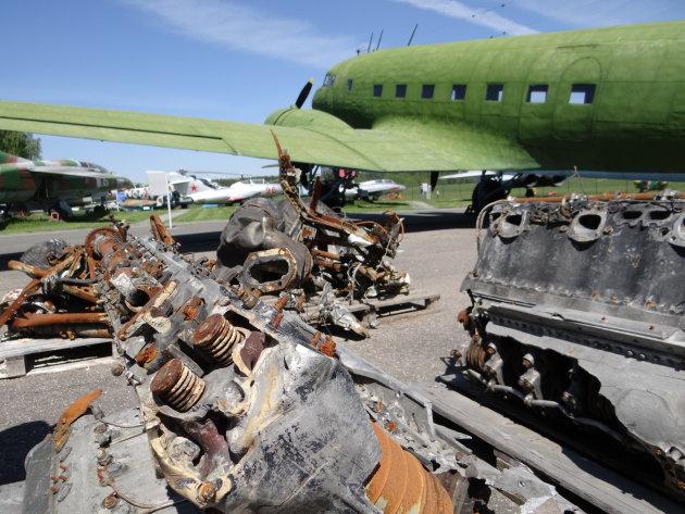 Vliegtuigschroot in Minsk
