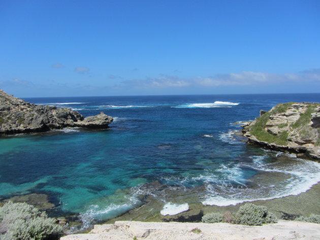 Uitzicht bij Rottnest eiland