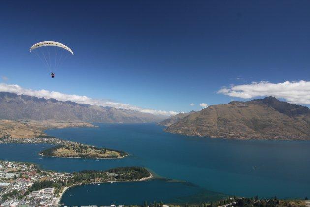 Uitzicht over Queenstown, Nieuw Zeeland