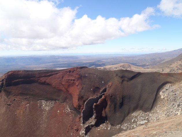 Vulkanisch landschap, Tongoriro Crossing, Nieuw Zeeland