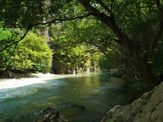 De acheron rivier op Parga