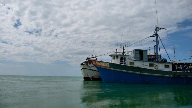 Aangemeerde schepen in Black River