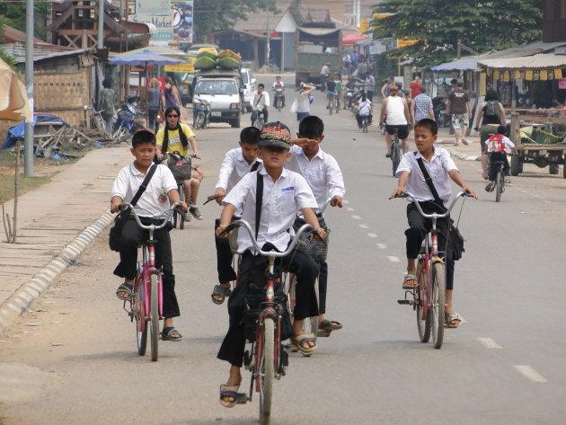 de lokale fietsbende