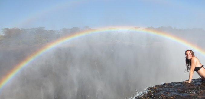 Victoria falls, livingstone island, Zambia