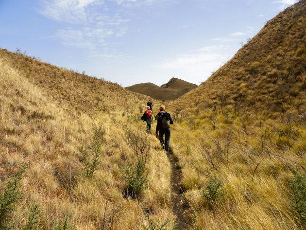 Afdaling van Mt Fako