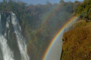 Dubbele regenboog bij de Victoria Falls