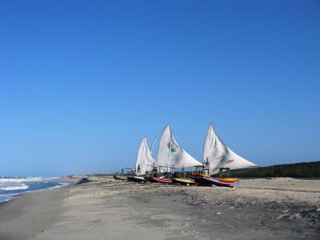 Verlaten stranden