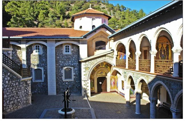 Kykkos-klooster binnenplaats