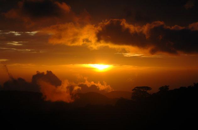 Zonsondergang in de Highlands