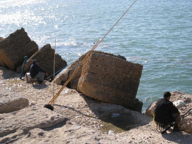Vissers bij Fort Qaitbey