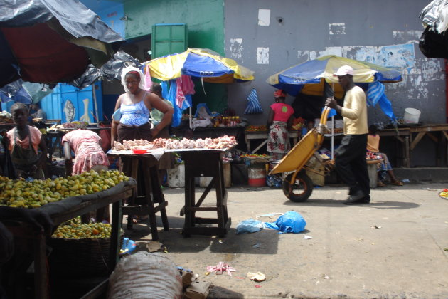 De Waterfront market in monrovia